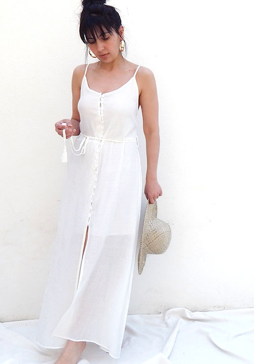Airy Button Dress