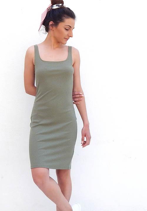 Capsule Khaki Dress
