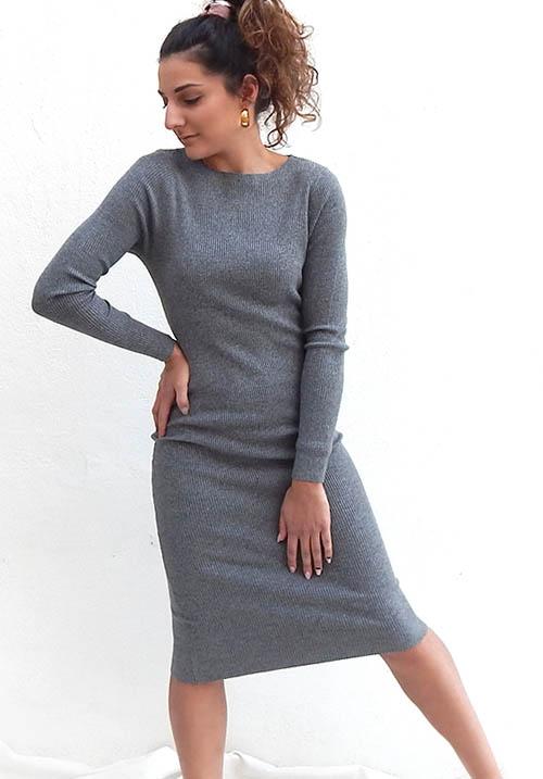 Stormy Grey Dress