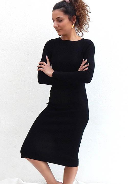 Stormy Black Dress