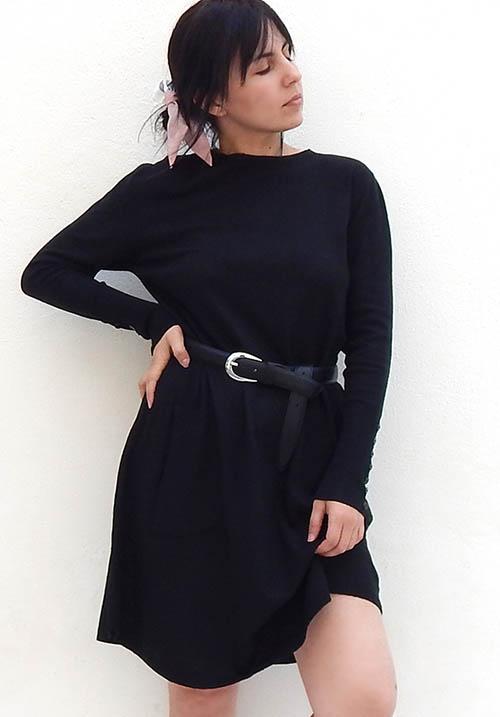 Chestnut Black Dress