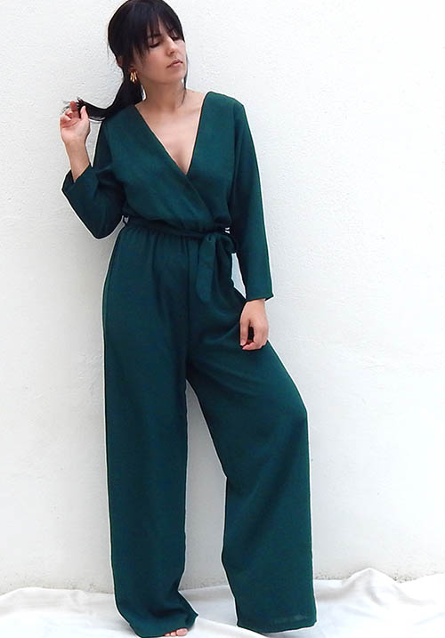 Fallen Leaves Emerald Jumpsuit (SOLD OUT)
