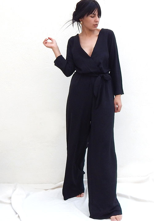 Fallen Leaves Black Jumpsuit