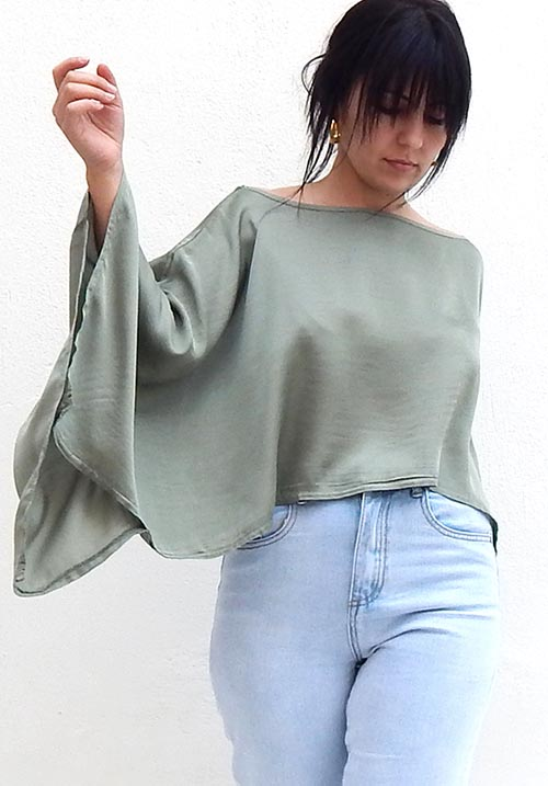 Satin Mint Blouse