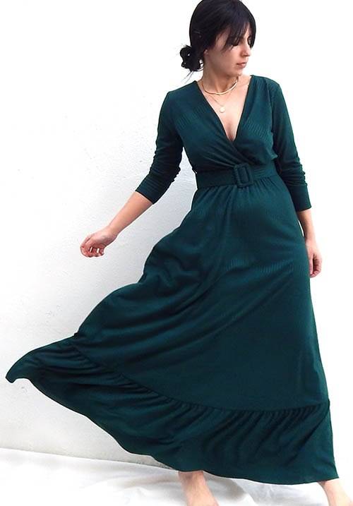 Bonfire Emerald Dress