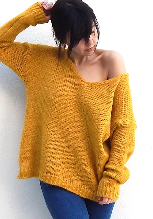 Candycorn Mustard Knit
