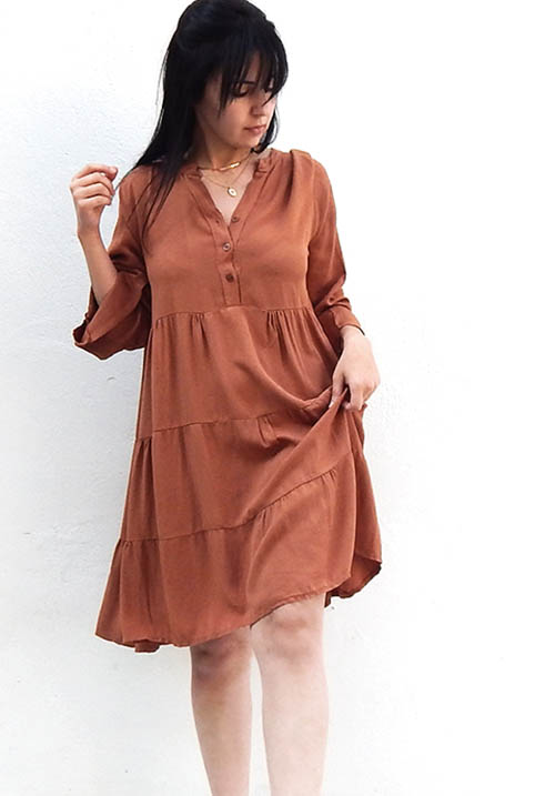 Maple Syrup Tan Dress