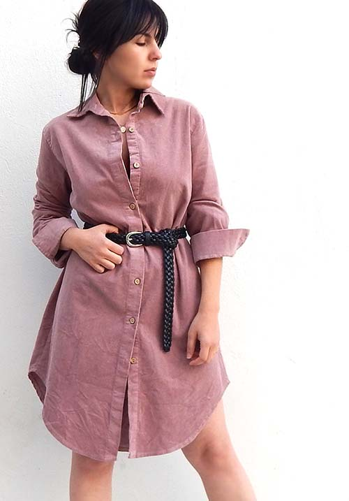 Corduroy Pink Dress
