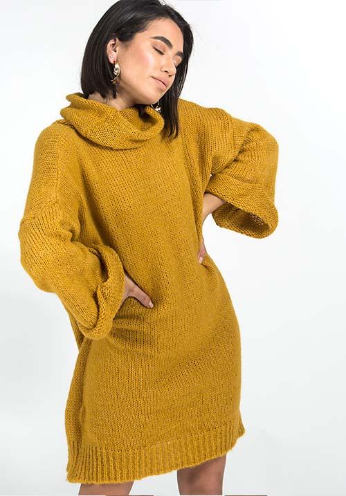Fireside Mustard Dress
