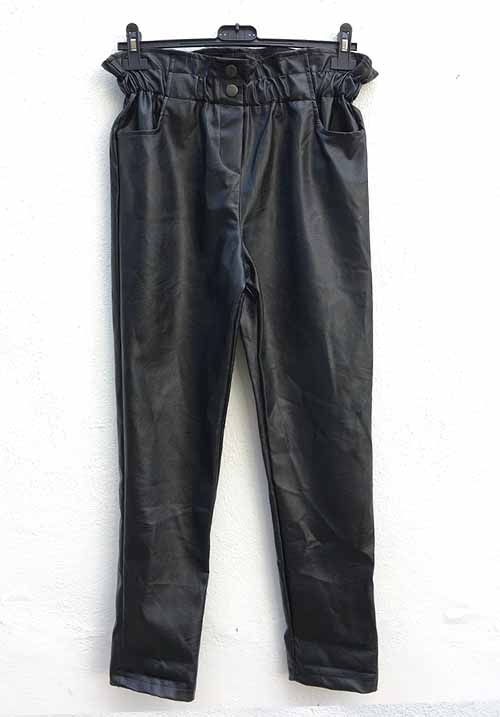Leather Baggy Pants