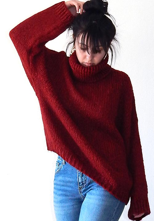 Windy Day Bordeaux Knit