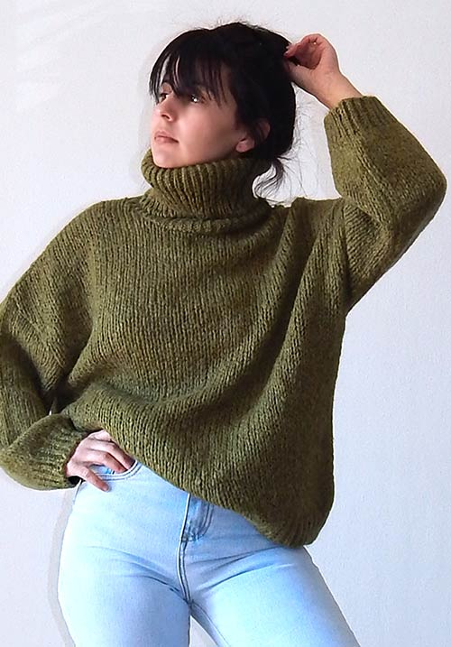 Windy Day Khaki Knit