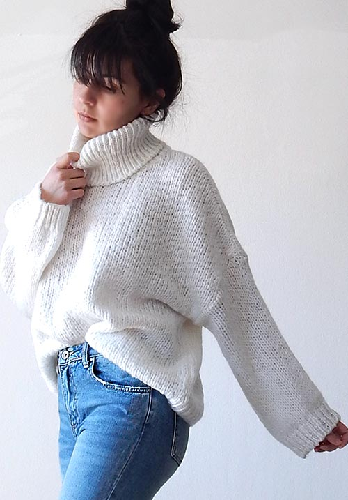 Windy Day White Knit