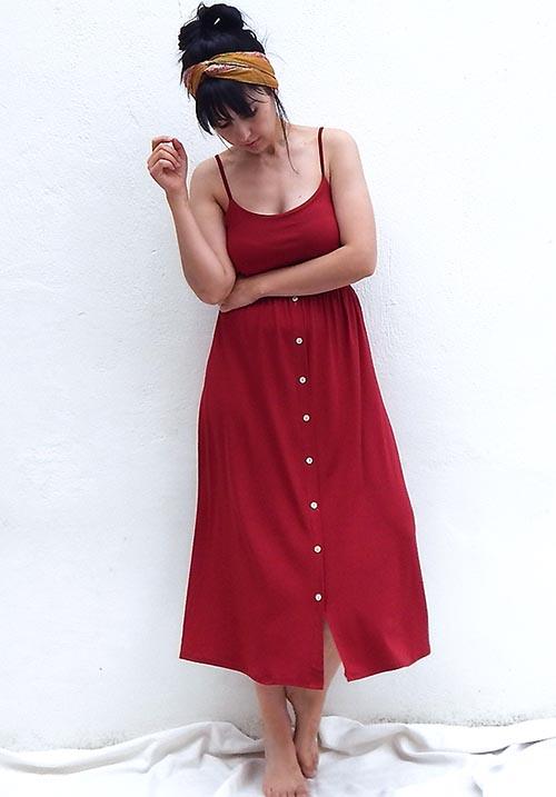 Jojoba Bordeaux Dress