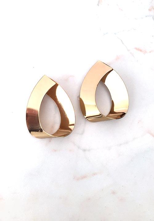 Shining Golden Earrings