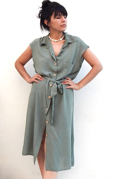 Traveller Khaki Dress