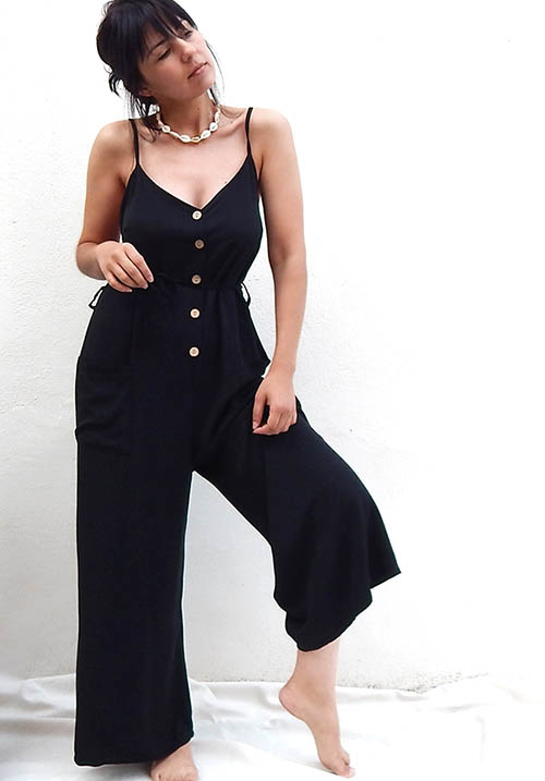 Harbor Black Jumpsuit