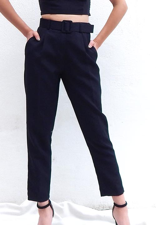 Belt Black Pants