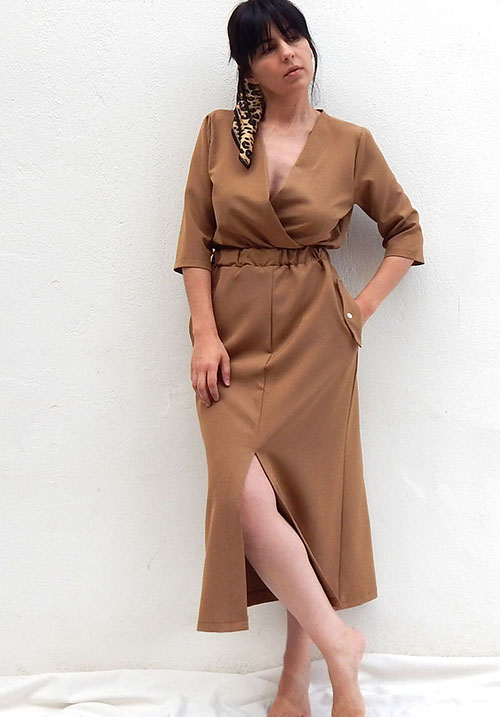 Wanna Bet Tan Dress (SOLD OUT)