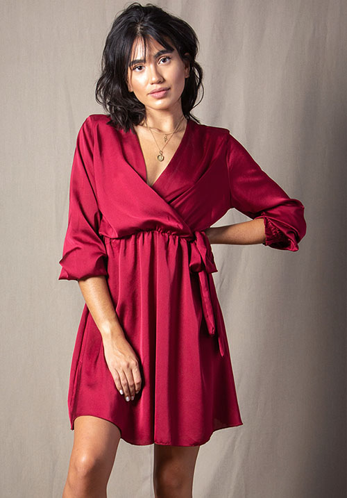 Soulmate Wine Dress (1 LEFT)