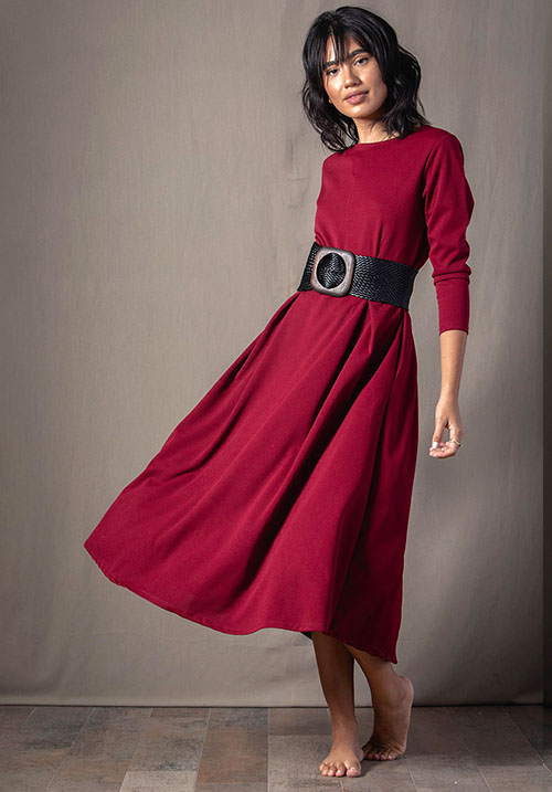 Kaleidoscope Bordeaux Dress (SOLD OUT)