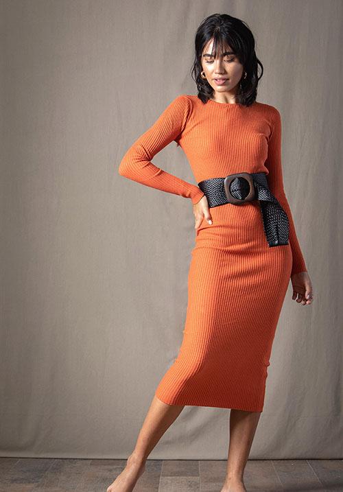 Purity Orange Dress