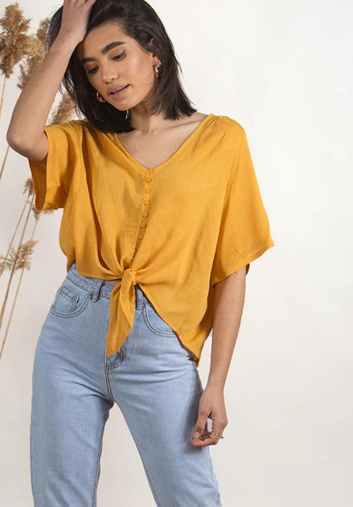 Caribou Yellow Blouse