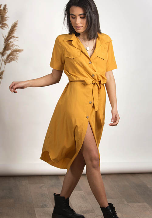 Hunt Me Turmeric Dress