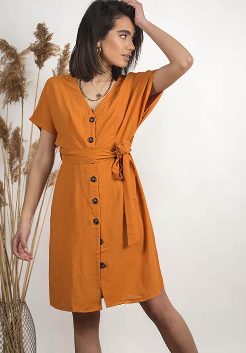 Jakarta Orange Dress