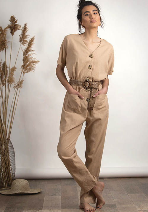 Savannah Beige Jumpsuit