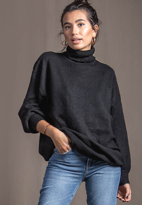 Cocoon Black Pullover (SOLD OUT)