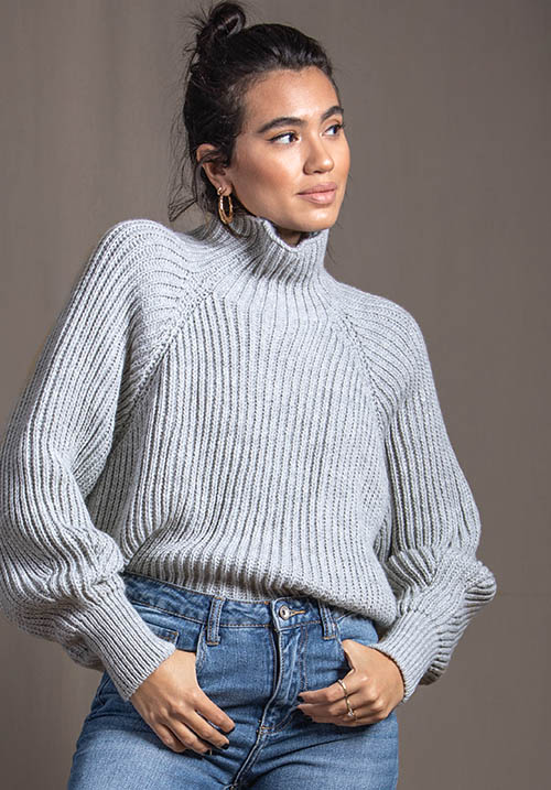 Stormy Grey Pullover