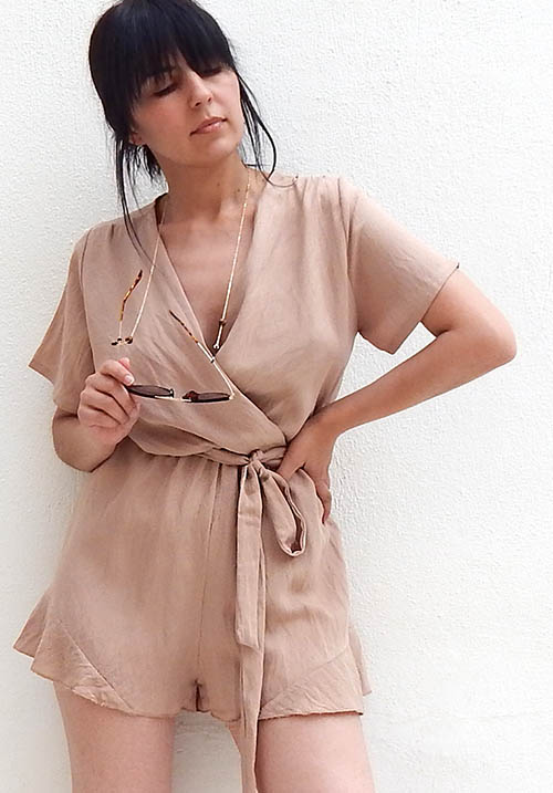 Wisteria Beige Playsuit