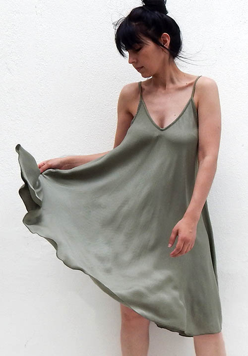 Iris Khaki Dress
