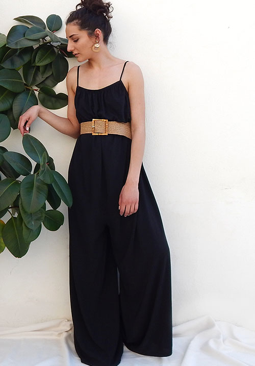 Leisure Black Jumpsuit