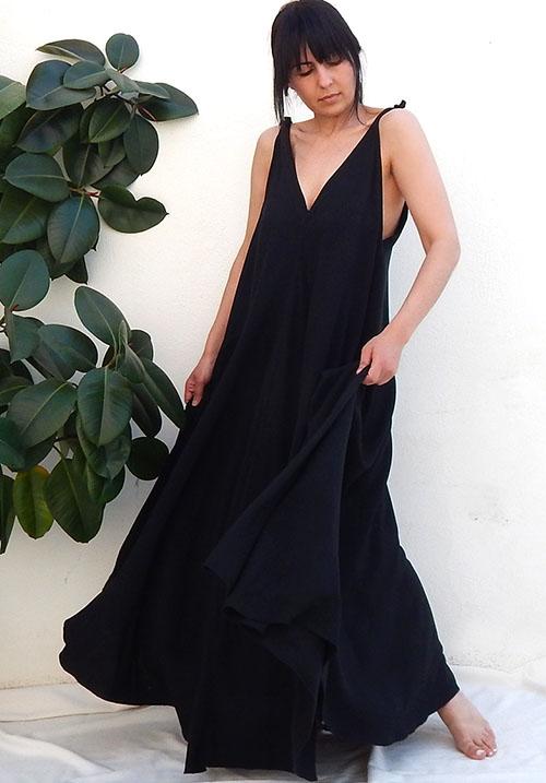 Serenity Black Dress
