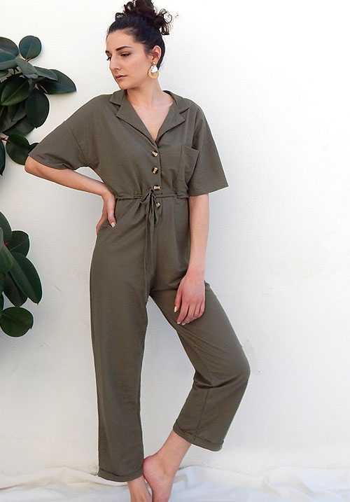 Wilderness Khaki Jumpsuit