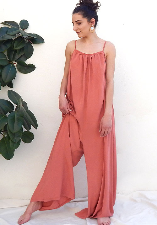 Leisure Peach Jumpsuit