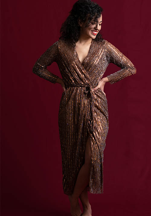 Bronze Tinsel Dress (SOLD OUT)