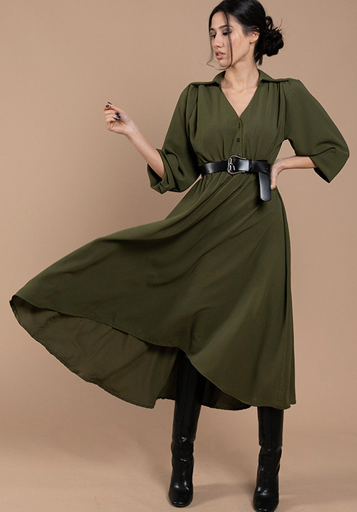 Lilium Olive Dress