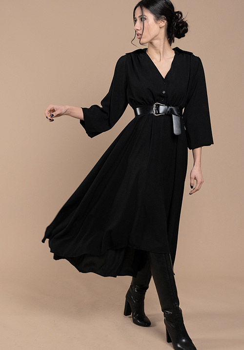 Lilium Black Dress