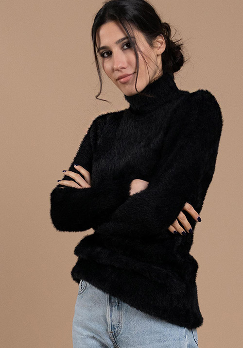 Fuzzy Black Pullover