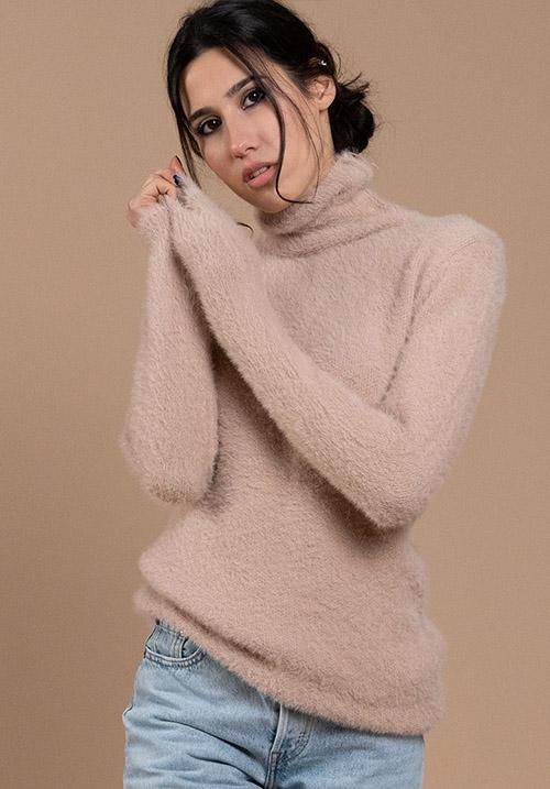 Fuzzy Beige Pullover