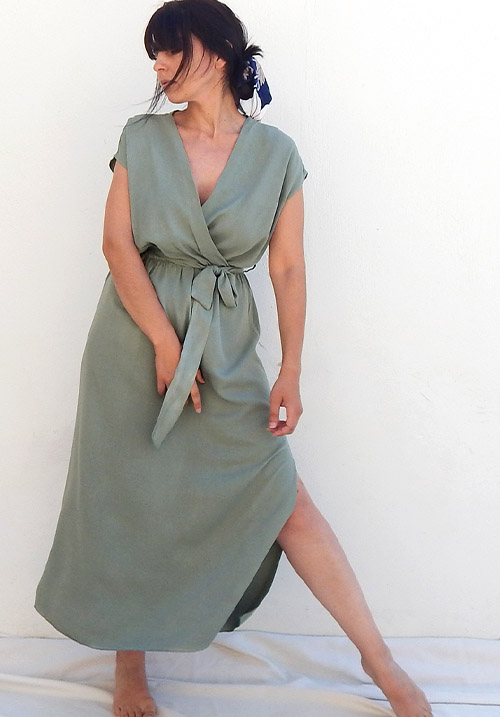 Anemone Khaki Dress