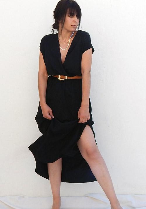 Anemone Black Dress