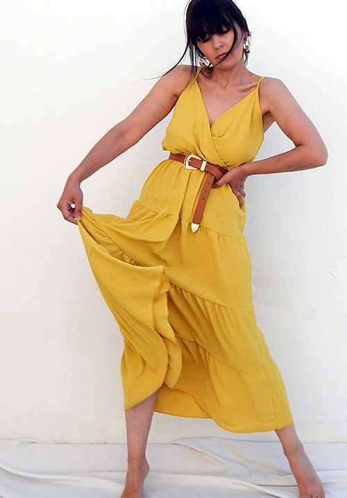 Ruffles Yellow Dress (1 LEFT)