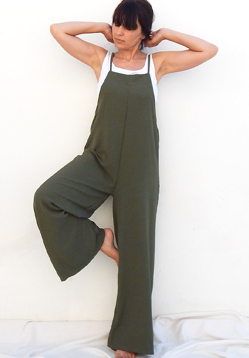 Overall Khaki Jumpsuit