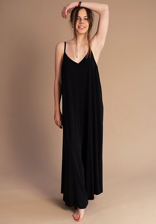 Seashore Black Jumpsuit
