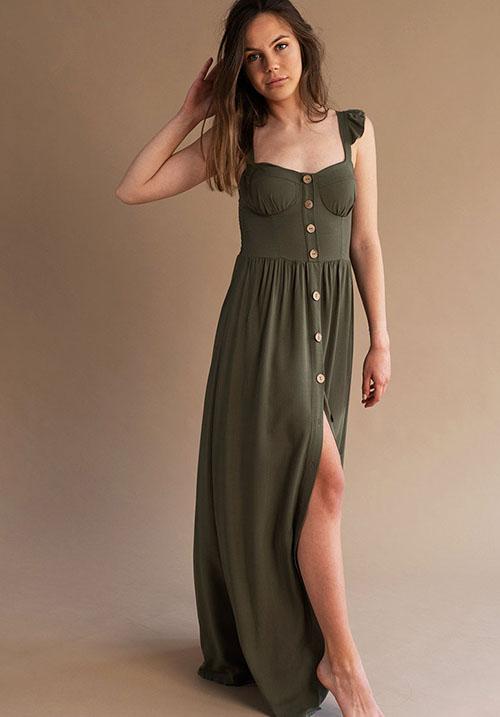 Daydream Khaki Dress