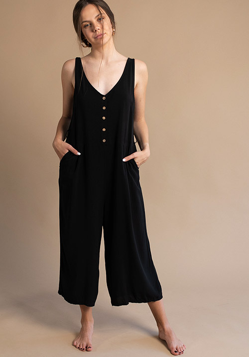 Marine Black Jumpsuit